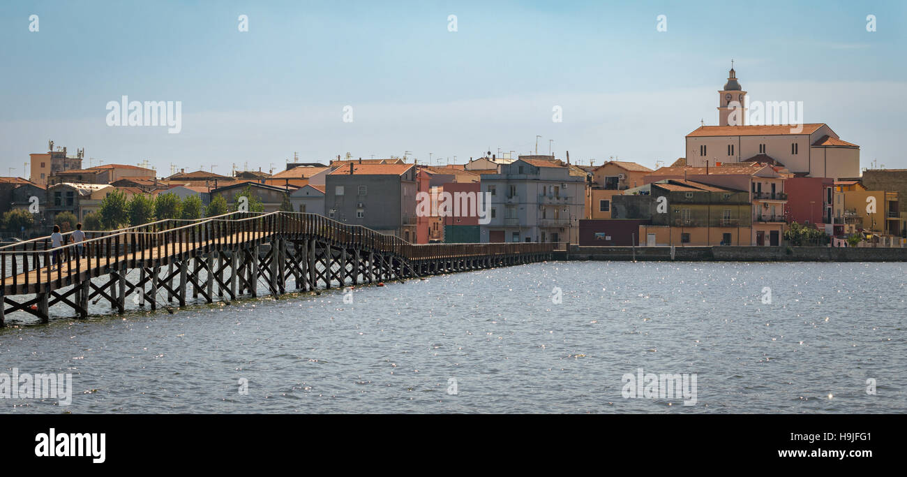 Lesina high definition scenic view with the sea (Puglia, Italy) - Stock Image