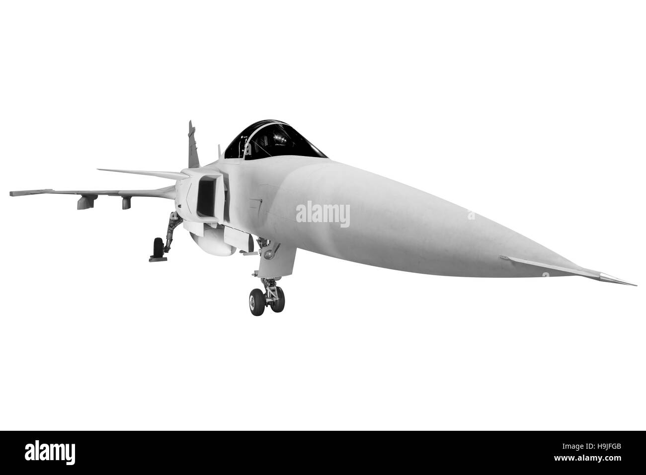 fighter jets military isolated on white background with clipping path - Stock Image