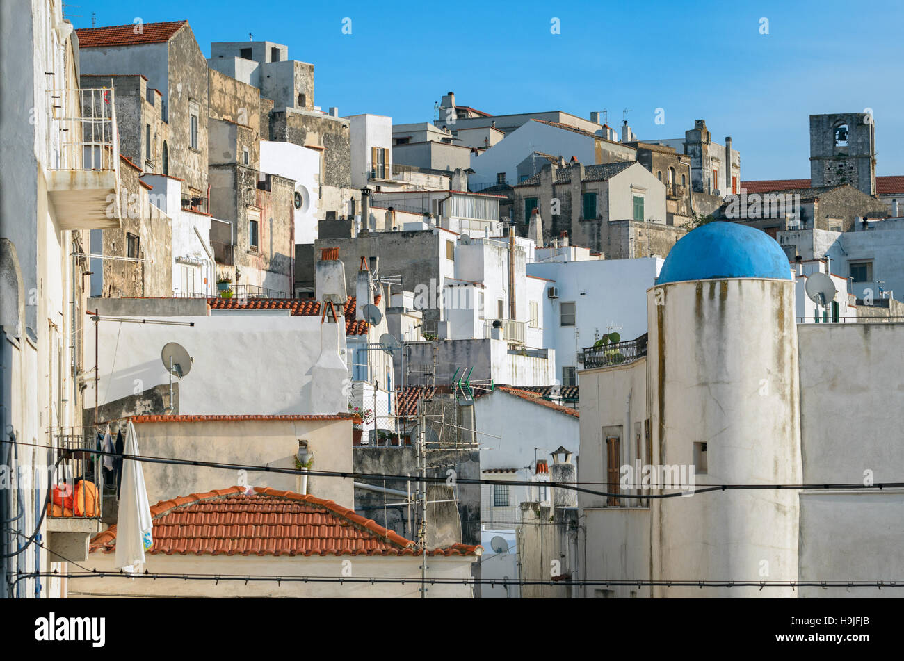 Peschici white houses (Puglia, Italy) - Stock Image