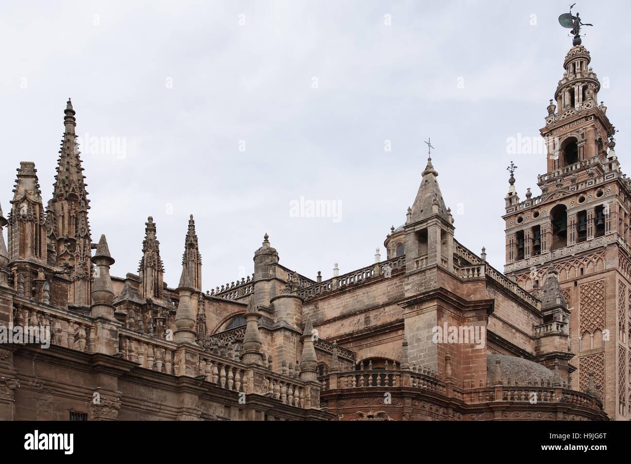 famous ancient architecture. Exellent Architecture Ancient Architecture View At Famous Seville Cathedral Spain And Famous Architecture 7