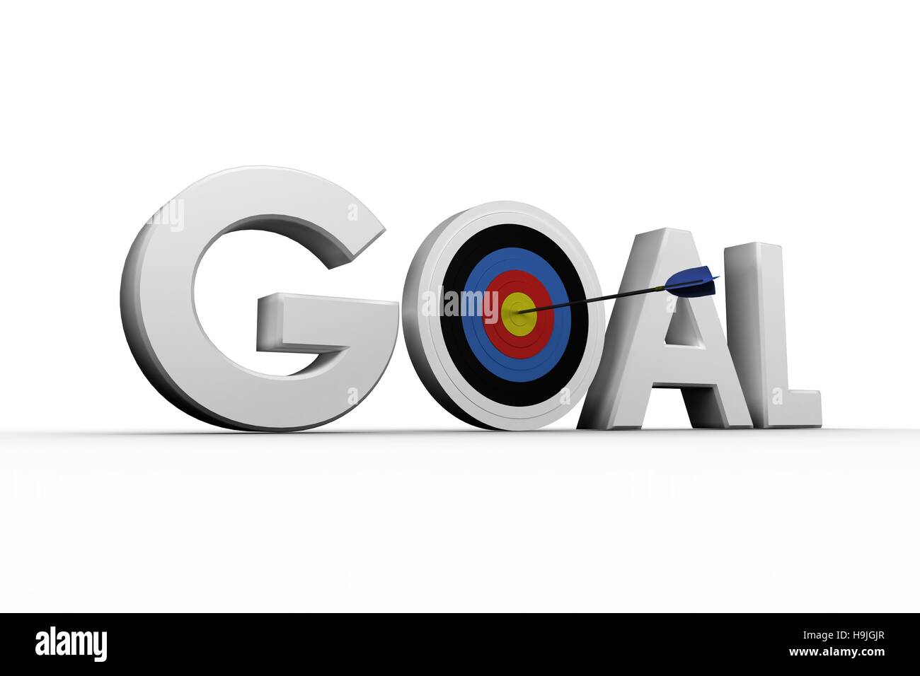 Digitally generated image of the word goal - Stock Image