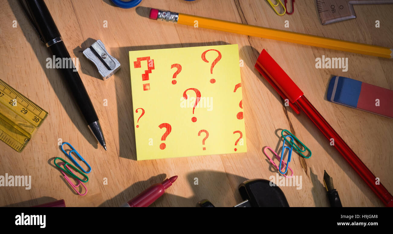 Composite image of question mark wallpaper - Stock Image