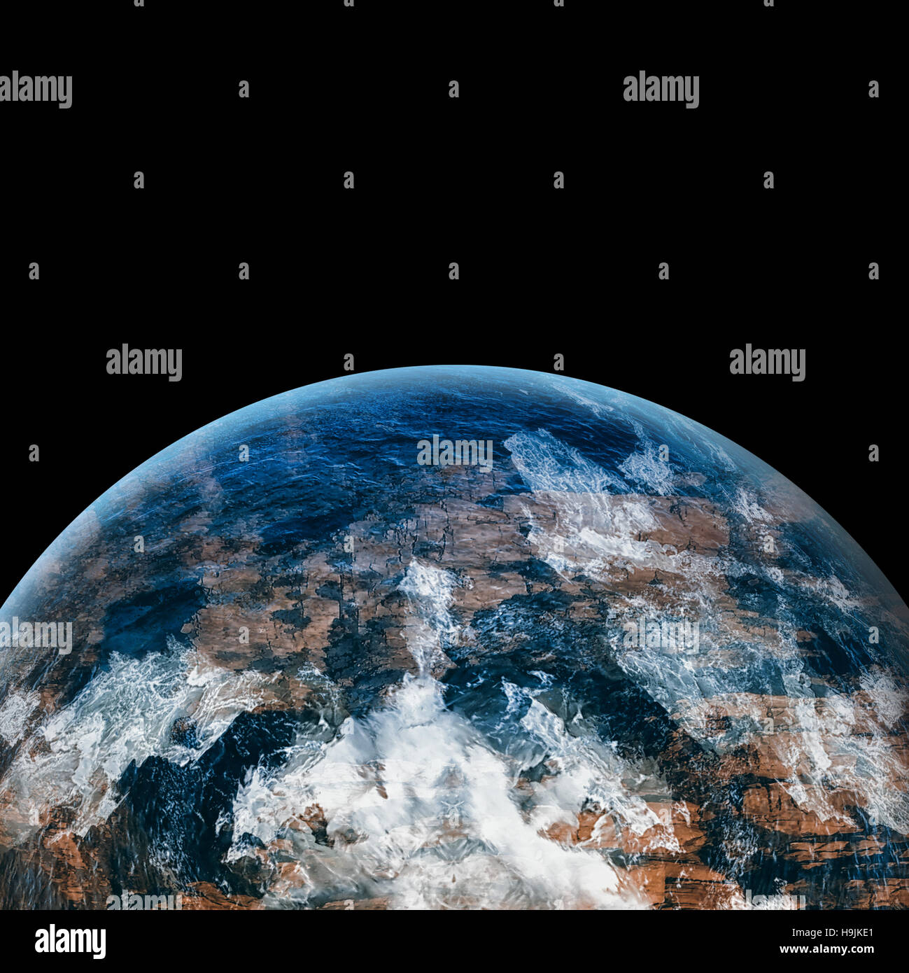 Digitally generated image of earth - Stock Image