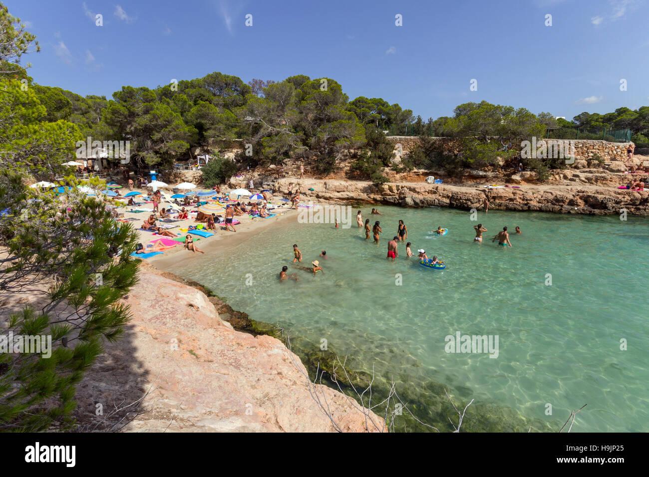 Spain, Balearic Island, Ibiza, Cala Gracioneta beach Stock Photo