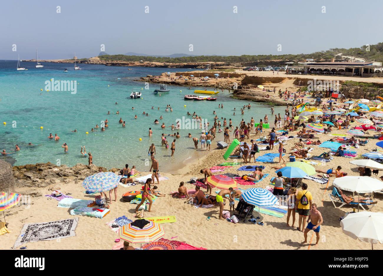 Spain, Balearic Island, Ibiza, Cala Comte beach Stock Photo