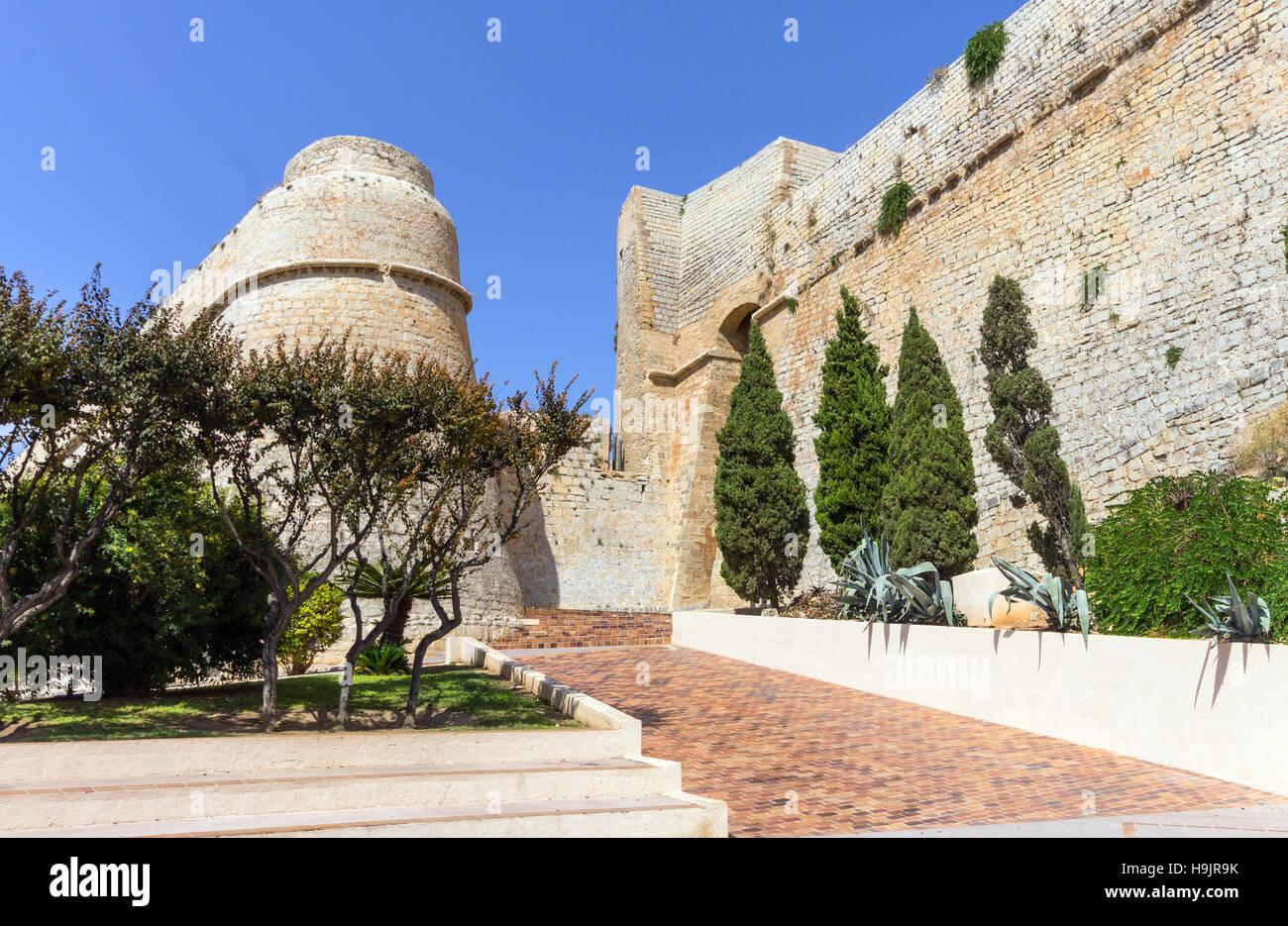 Spain, Balearic Islands, Ibiza, Eivissa, old town Dalt Vila, Portal Nou - Stock Image