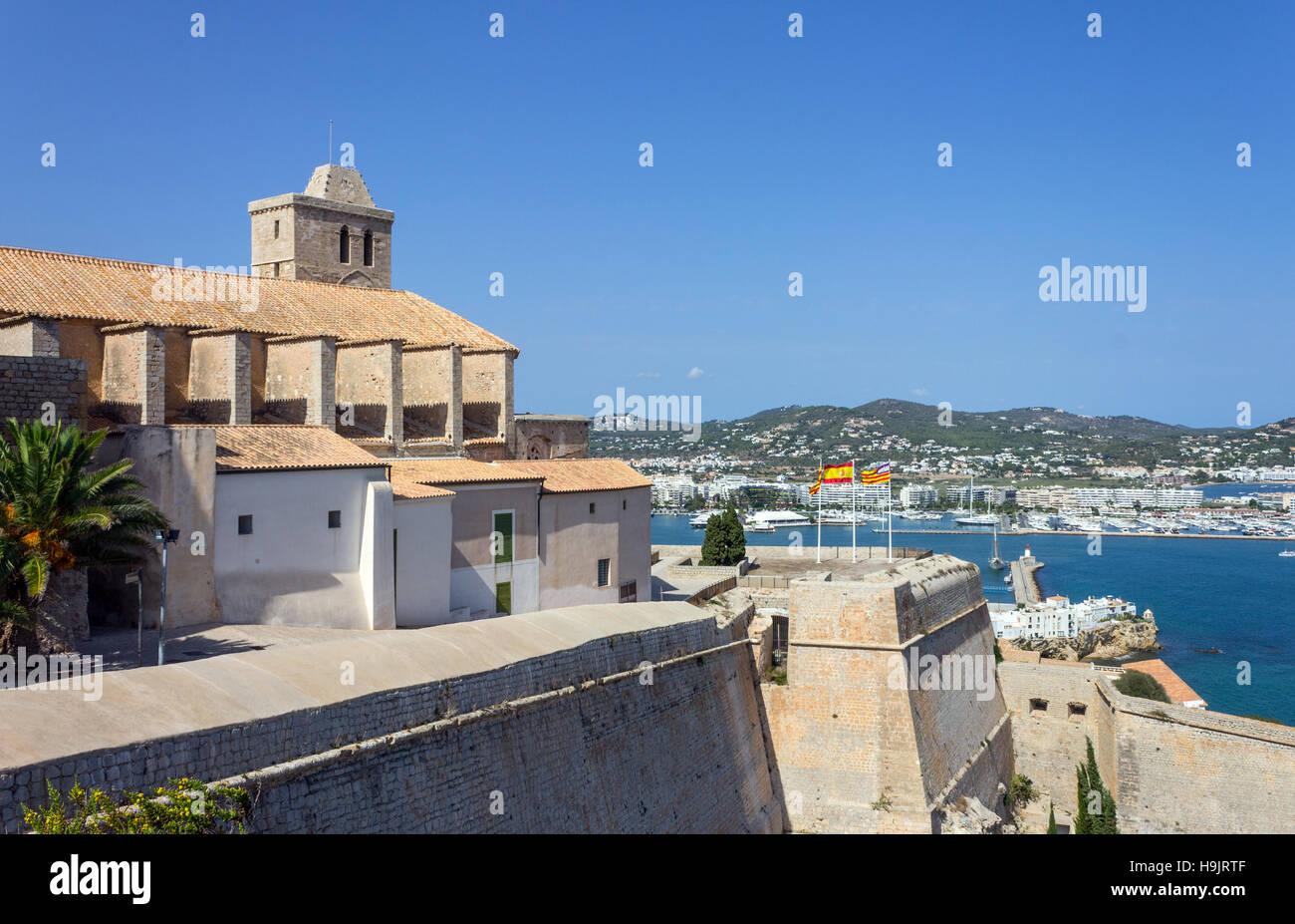Spain, Balearic Islands, Ibiza, Eivissa, old town Dalt Vila - Stock Image