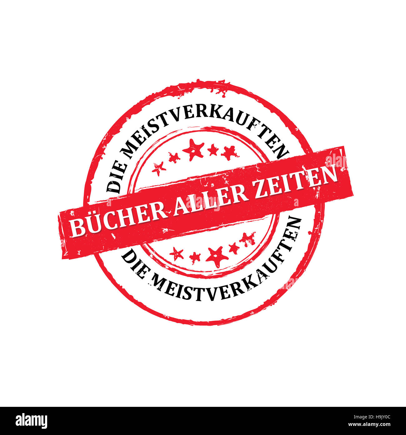 Meistverkauften Bücher aller Zeiten - Grunge Stempel Stock Photo