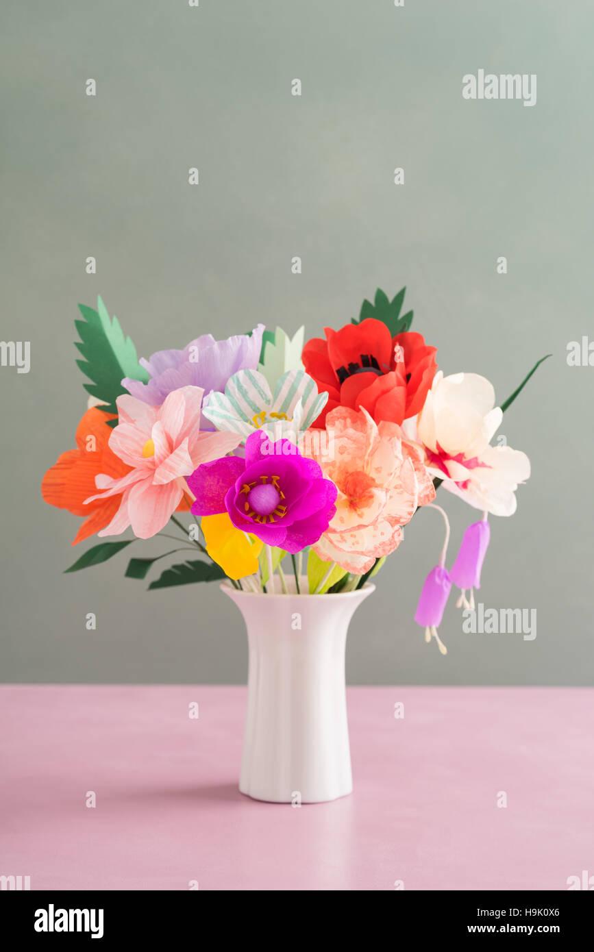 Handmade Paper Flowers Stock Photo 126422302 Alamy
