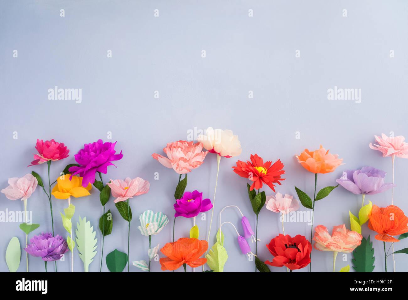 Handmade Paper Flowers Stock Photo 126422430 Alamy