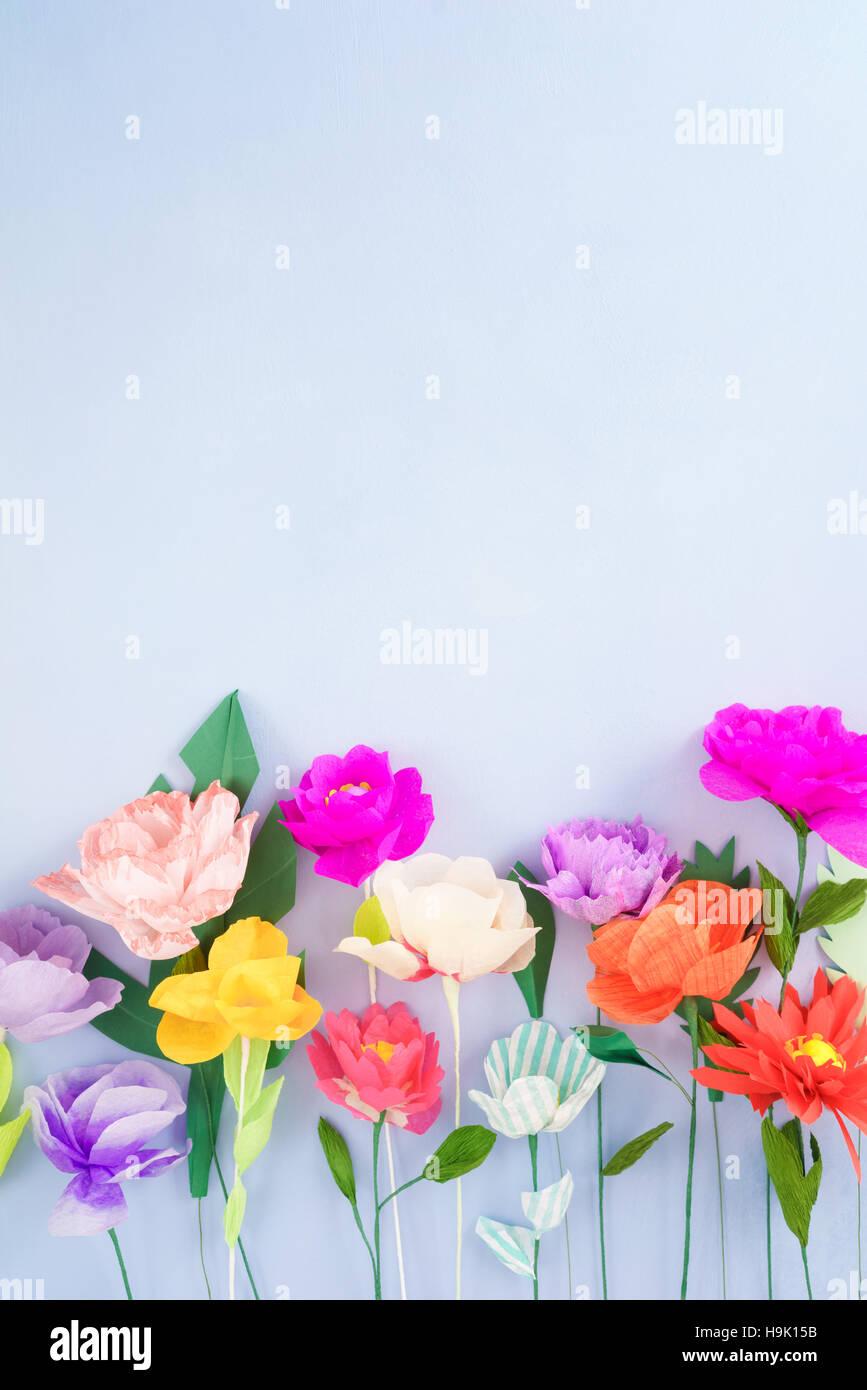 Handmade Paper Flowers Stock Photo 126422503 Alamy