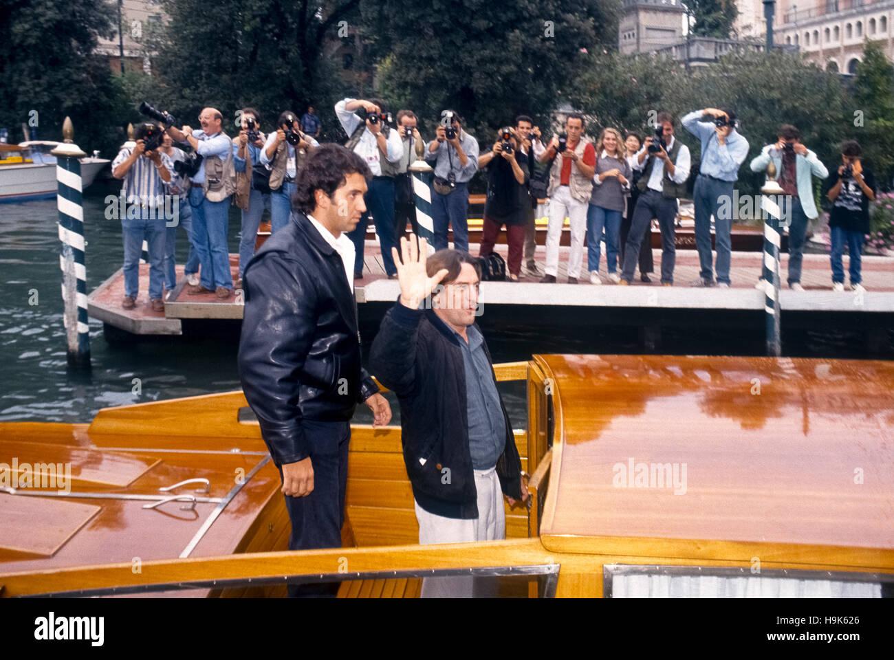 Italy Venice Festival cinema 1993 Robert De Niro To Lido - Stock Image
