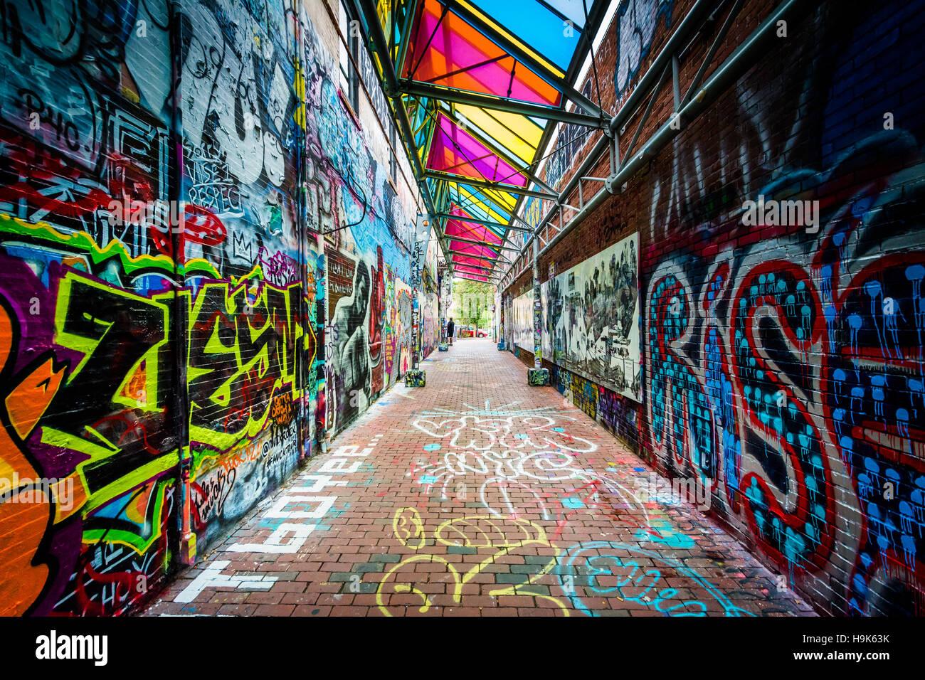 Graffiti Alley At Central Square In Cambridge Massachusetts