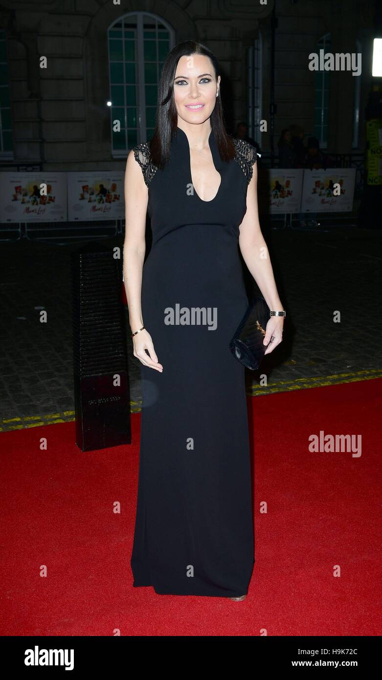 Linzi Stoppard attends the Mum's List premiere at the Curzon Mayfair, London. - Stock Image
