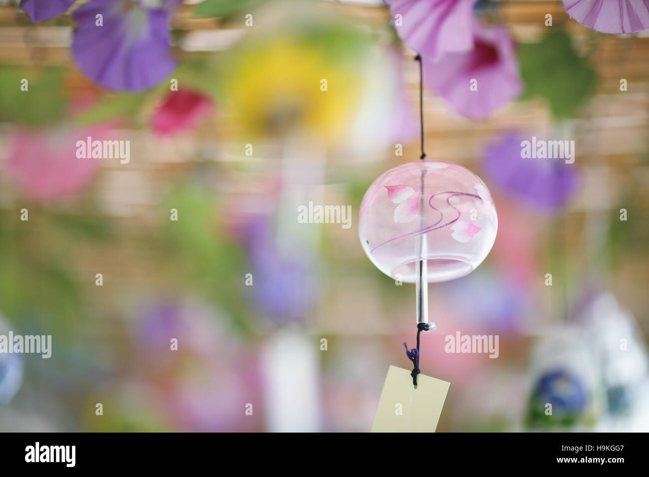 Japanese traditional wind chime - Stock Image
