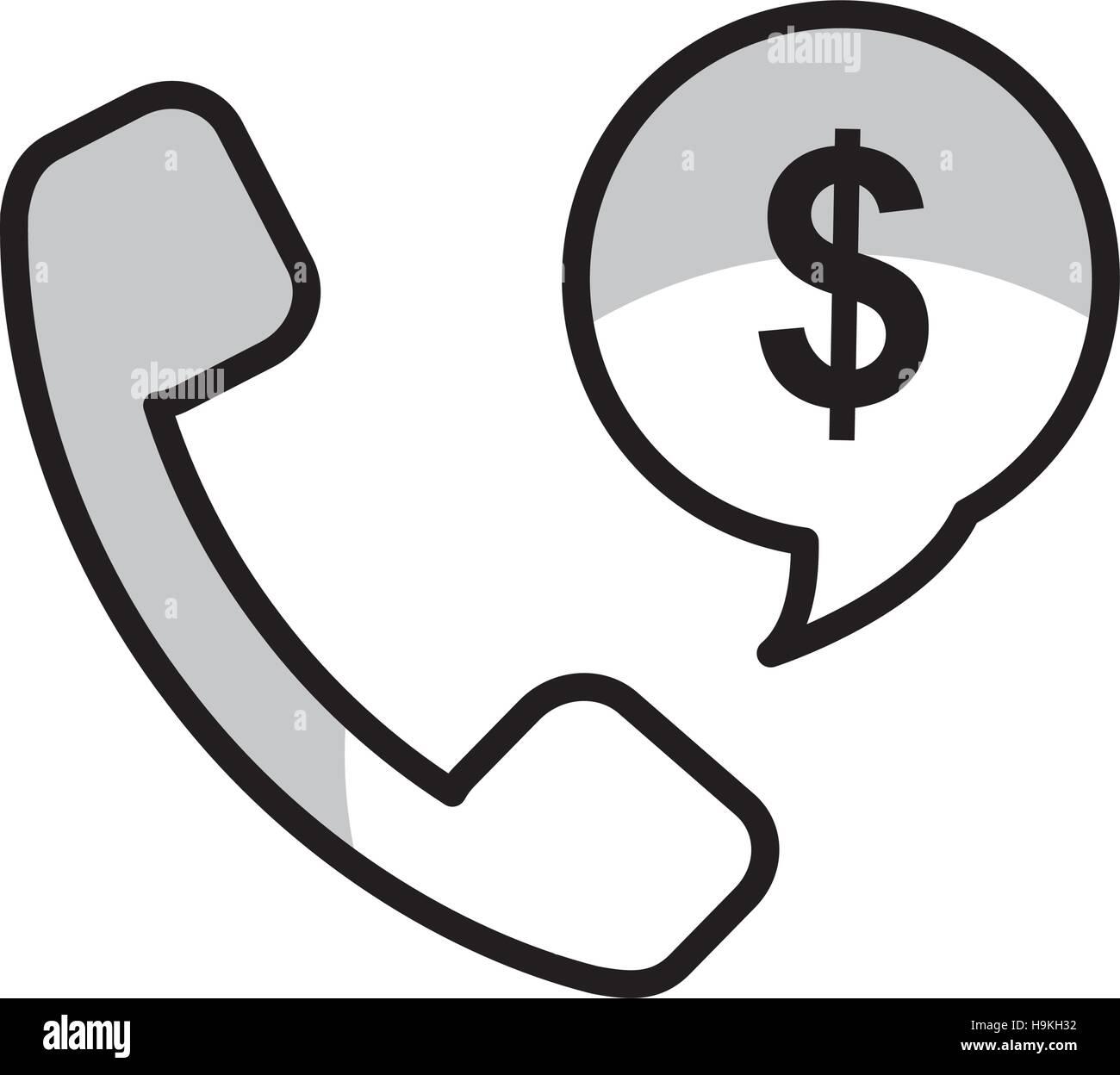 telemarketing sales phone Stock Vector
