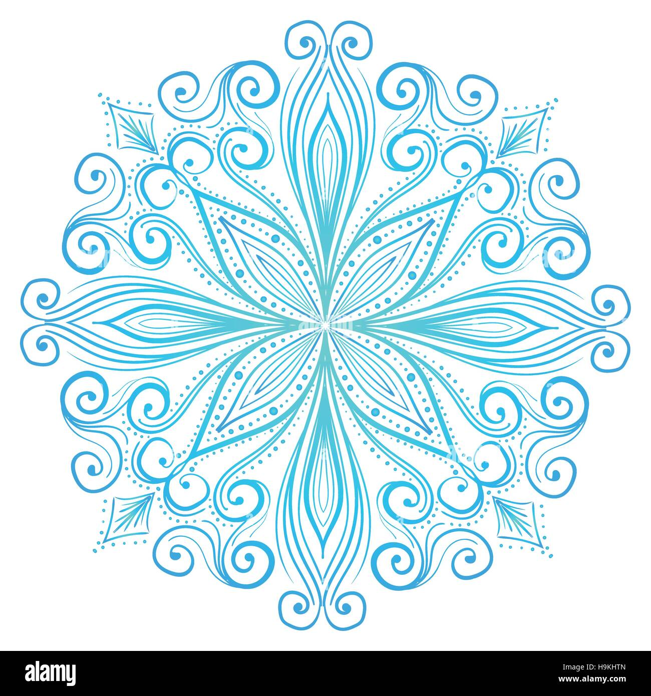 Mandala, Tribal Ethnic Ornament, Islamic Arabic Indian Pattern. Vector Illustration. Can Used for Design Element, - Stock Image