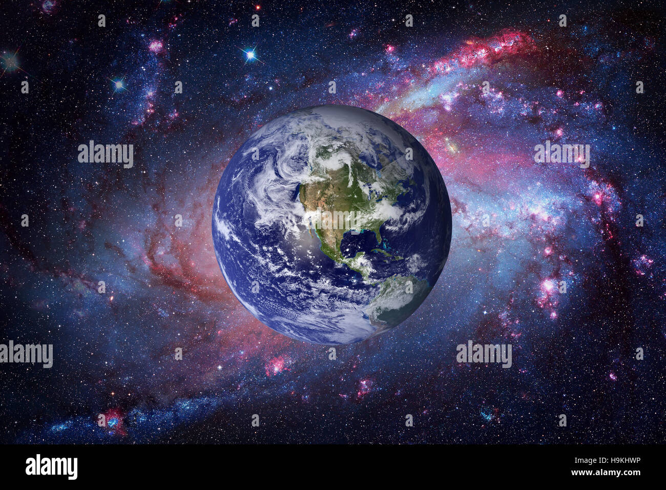 Planet Earth from space. Elements of this image furnished by NASA. - Stock Image