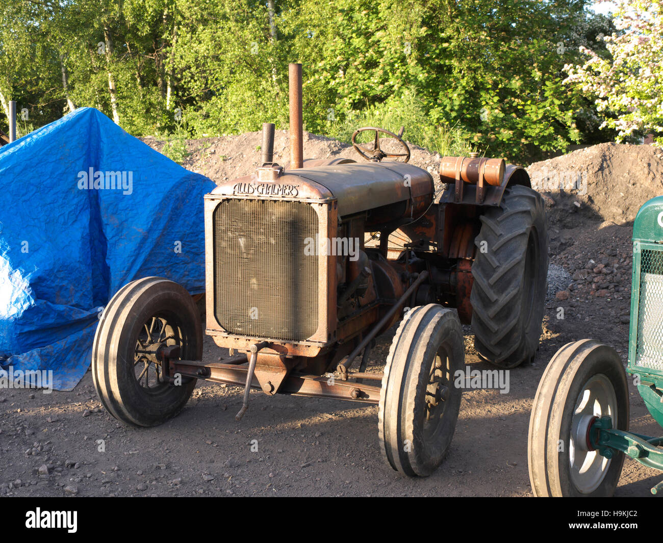 Vintage Allis Chalmers Tractor On Display At The Great Central Railway Stock Image