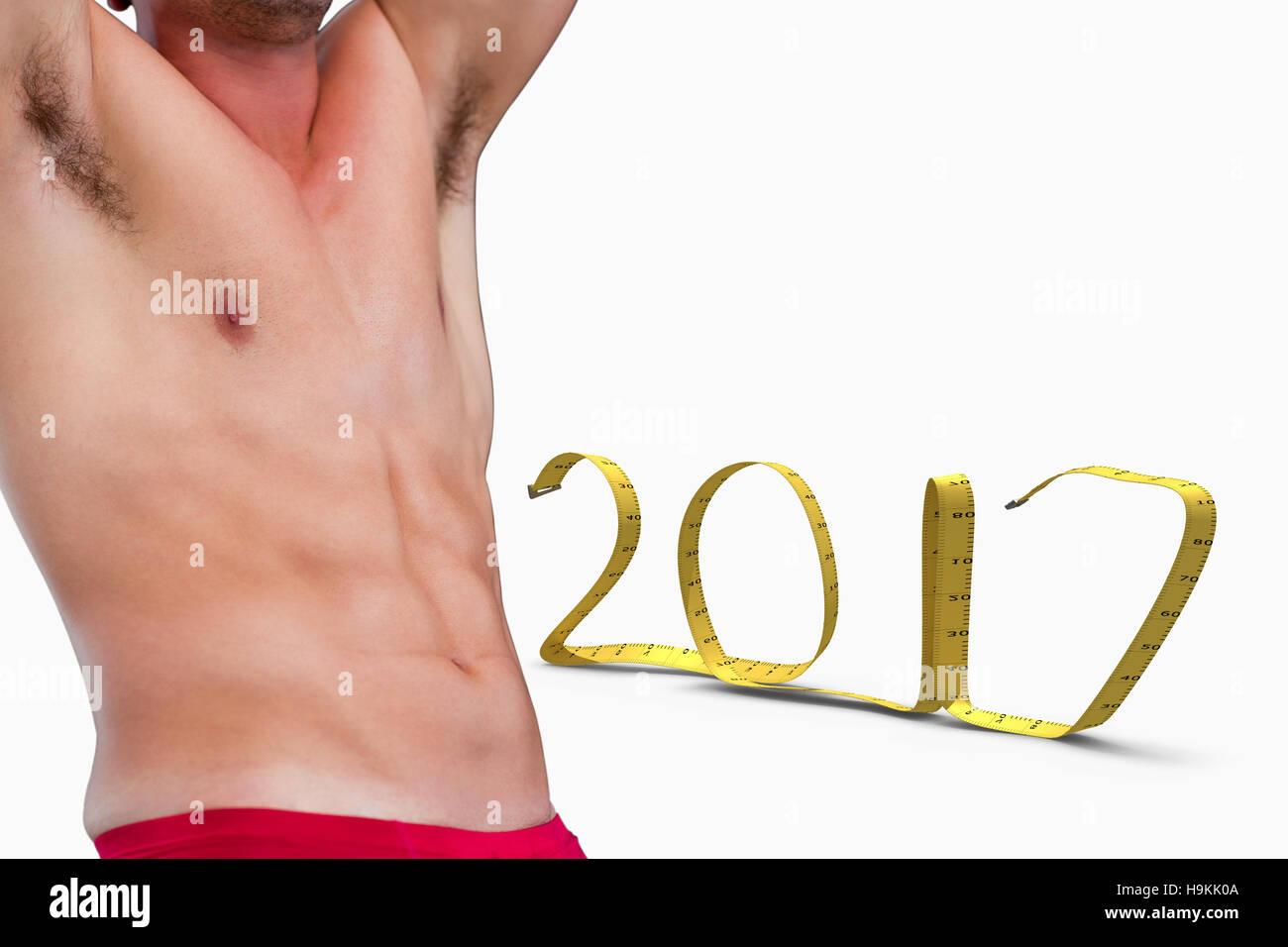 Composite image of bodybuilder - Stock Image
