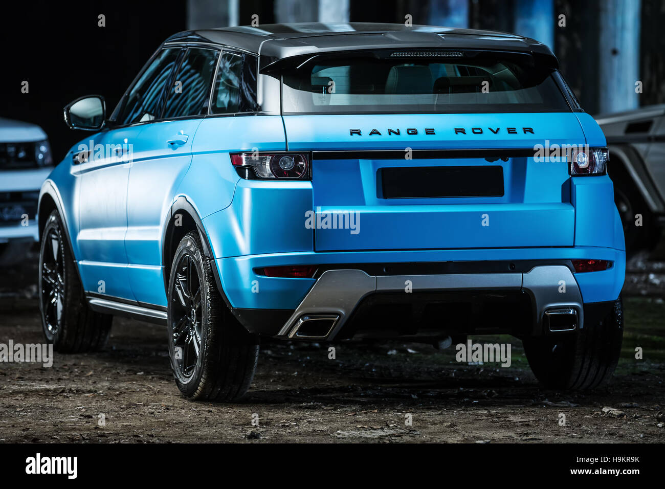 range rover evoque tuning stock photo 126439871 alamy. Black Bedroom Furniture Sets. Home Design Ideas