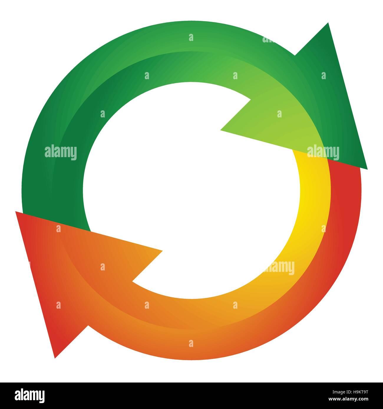 circular arrow circle arrow icon rotation restart twist turn rh alamy com 3d circle arrow vector half circle arrow vector