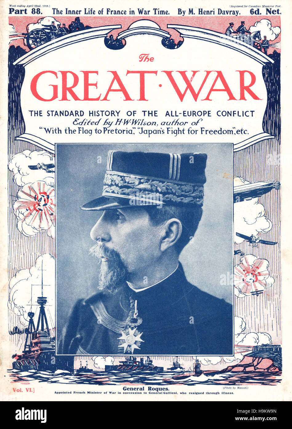 1916 The Great War front page General Roques Stock Photo