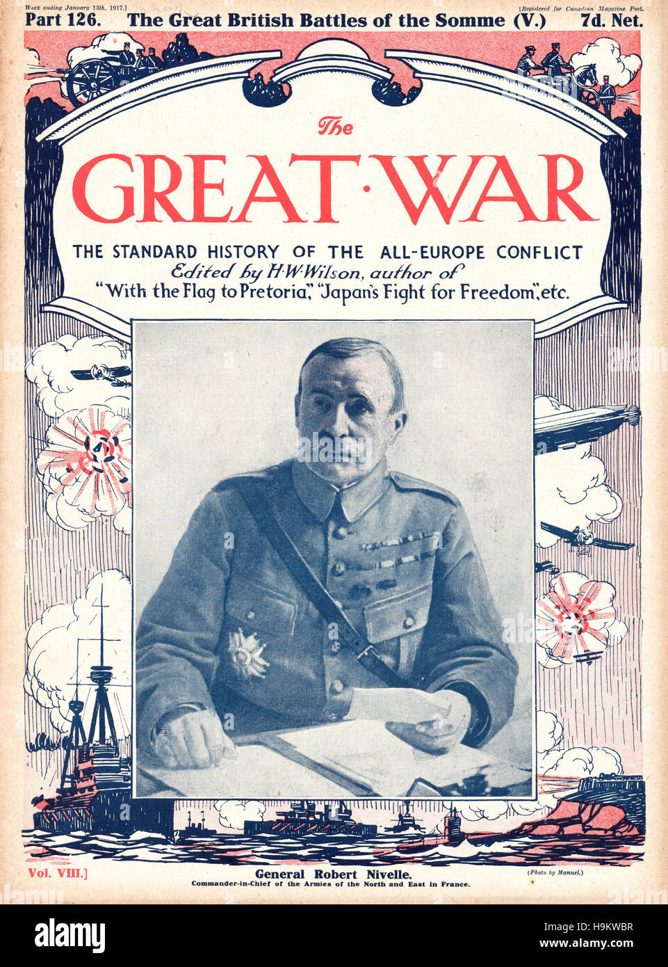 1917 The Great War front page General General Robert Nivelle - Stock Image