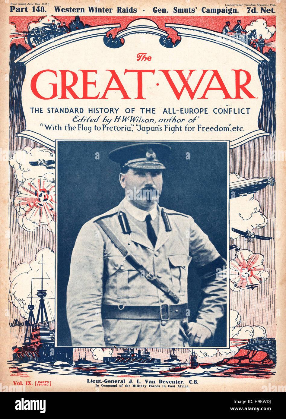 1917 The Great War front page General Jacob van Deventer - Stock Image