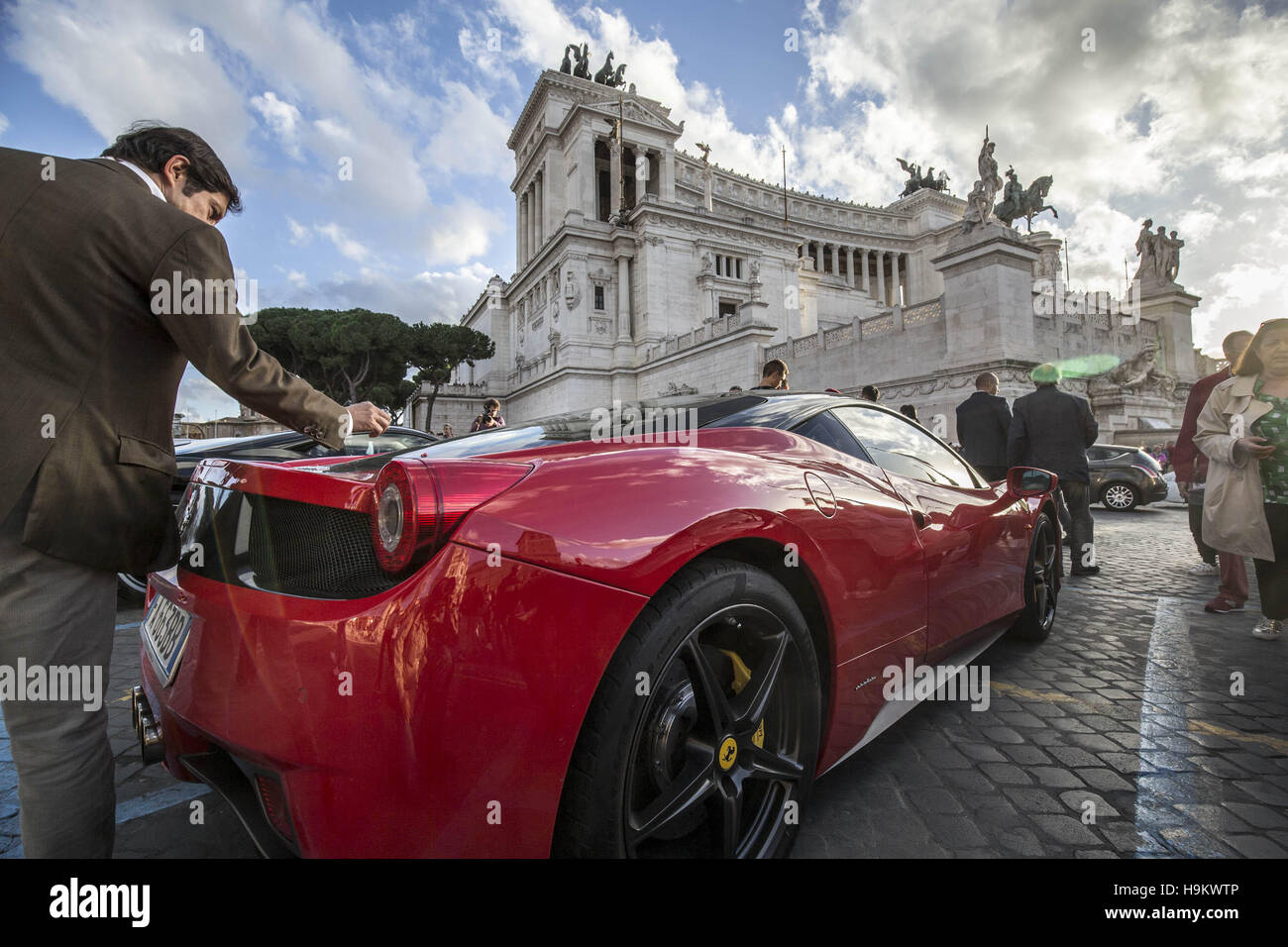 The Ferrari Store Reopening On Via Tomacelli In Rome Italy