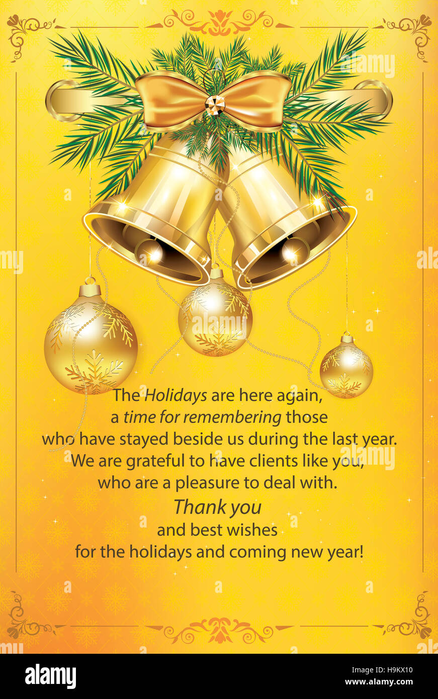 Greeting card for clients stock photos greeting card for clients business greeting card for christmas and new year especially created for companies that want to reheart Choice Image