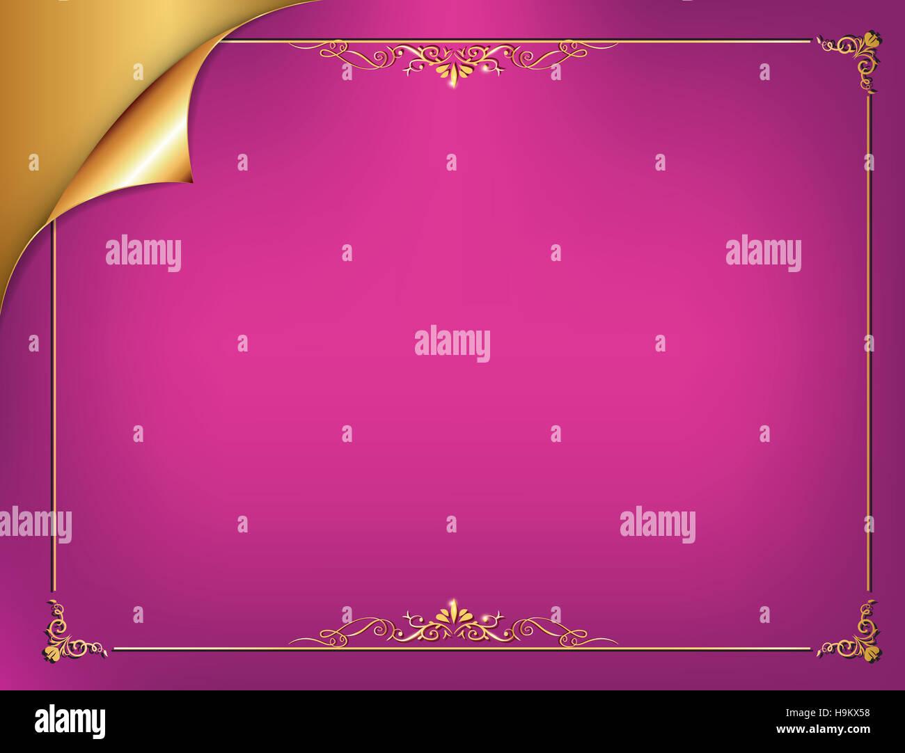 Golden Purple Elegant Background For Any Occasion Birthdays Wedding Invitations Celebration Postcards Print Colors Used