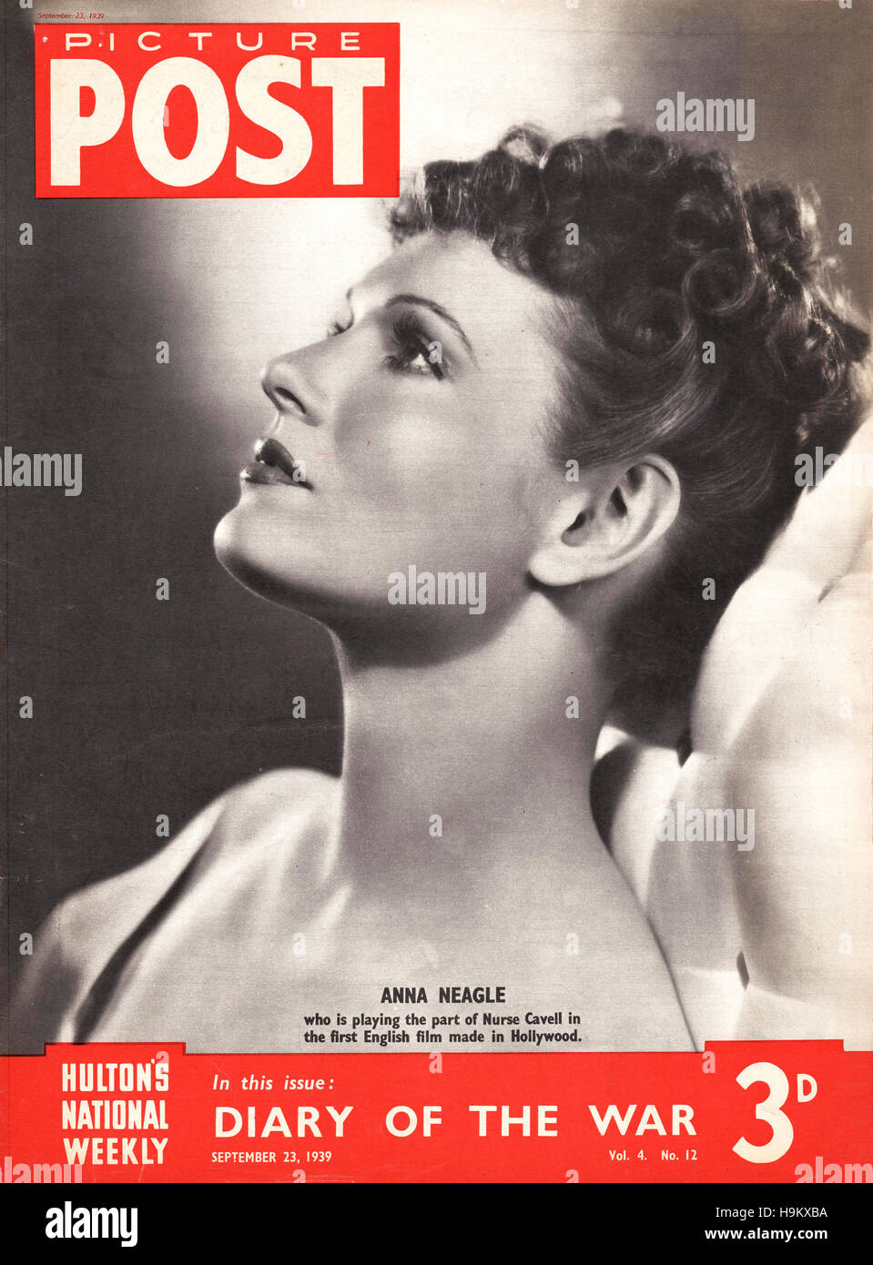 1939 Picture Post Actress Anna Neagle - Stock Image