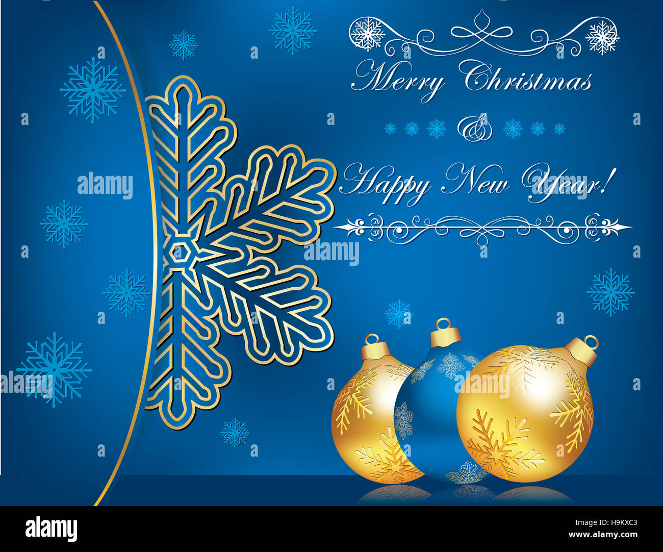 Celebration Background For Christmas And New Year Business Blue
