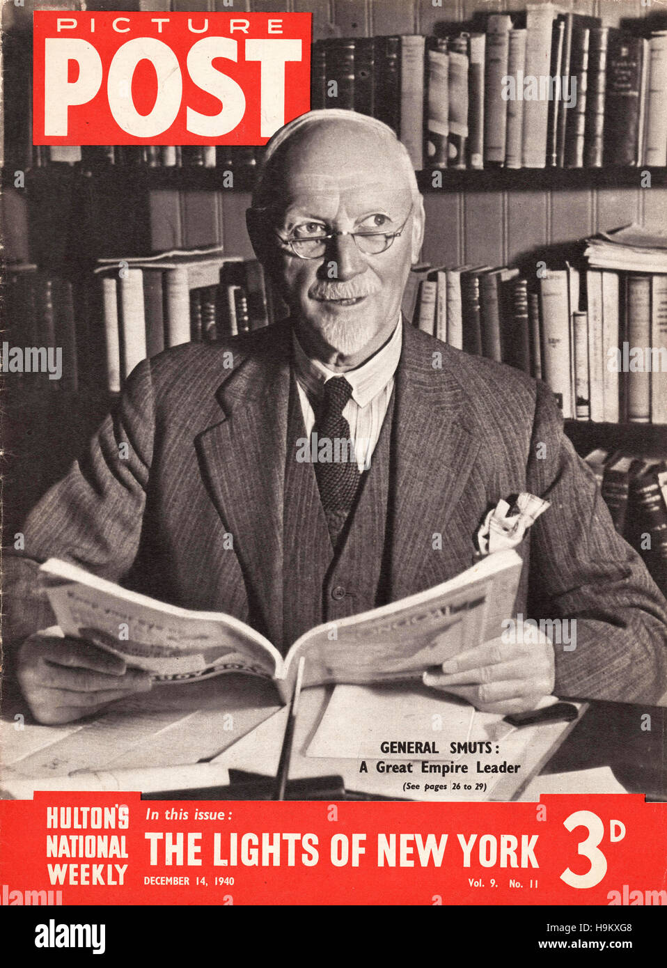 1940 Picture Post General Jan Smuts - Stock Image