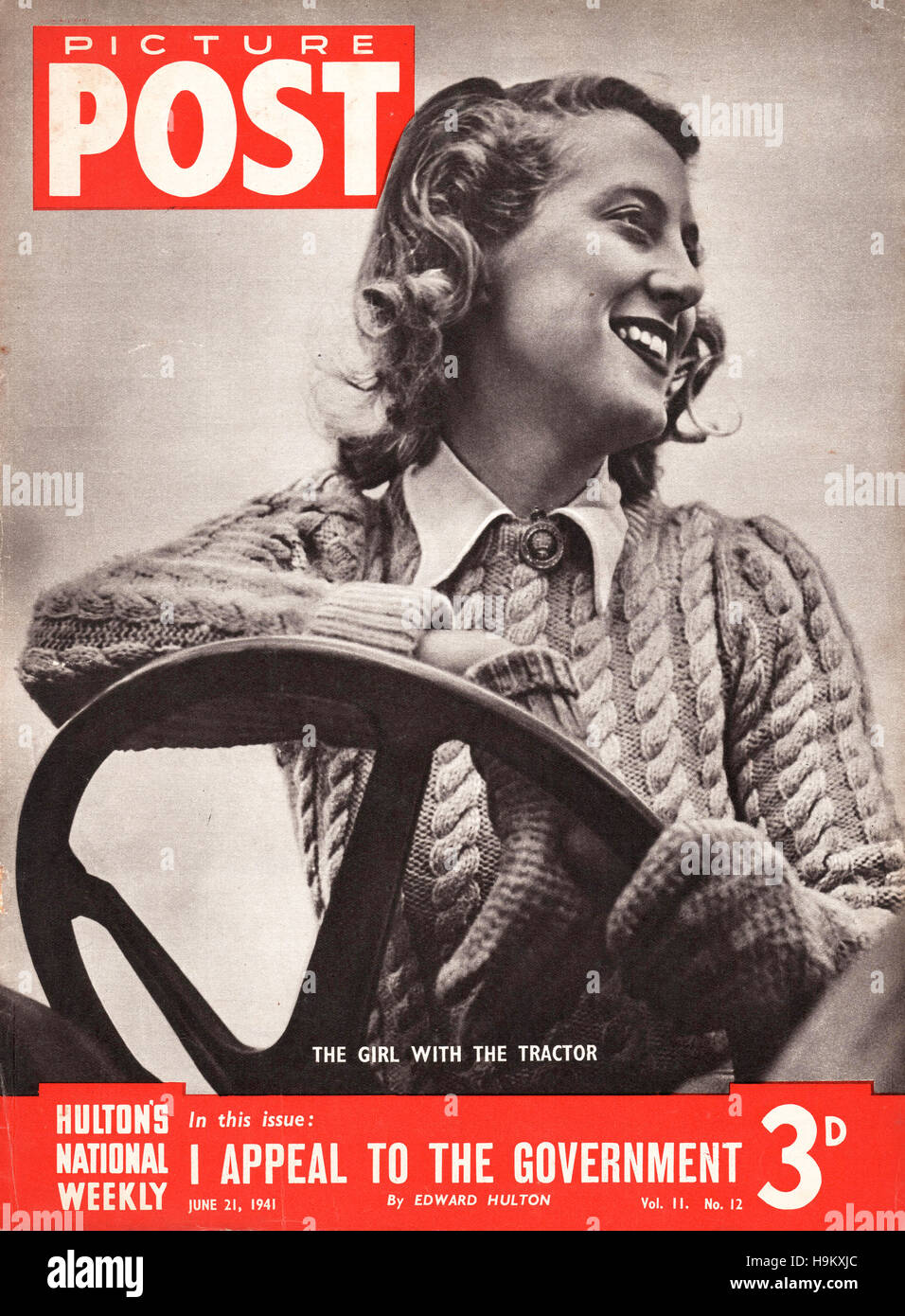 1941 Picture Post Girl with a tractor Stock Photo - Alamy