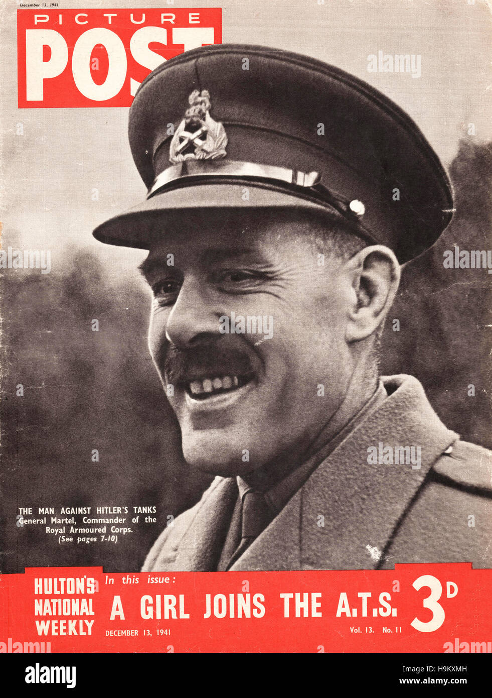 1941 Picture Post Lieutenant-General Sir Giffard Le Quesne Martel - Stock Image