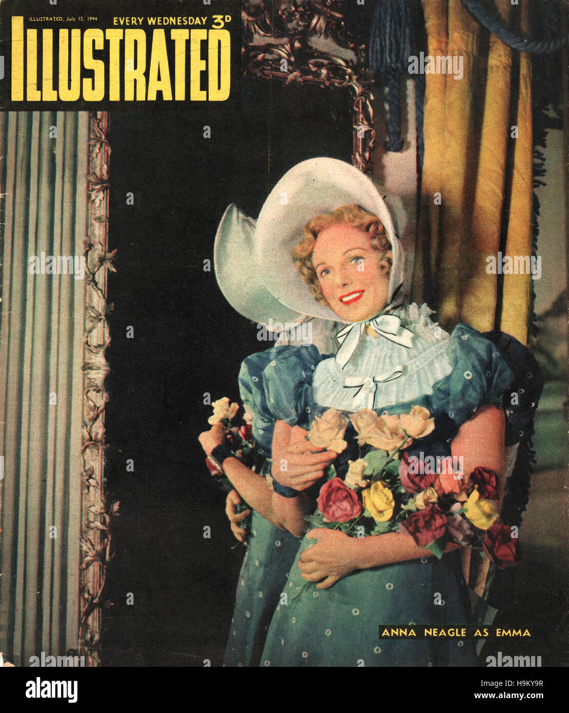 1944 Illustrated Actress Anna Neagle - Stock Image