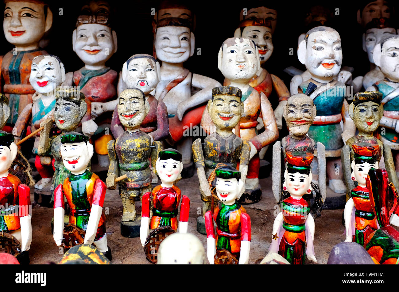 Vietnamese water puppets on display - Stock Image