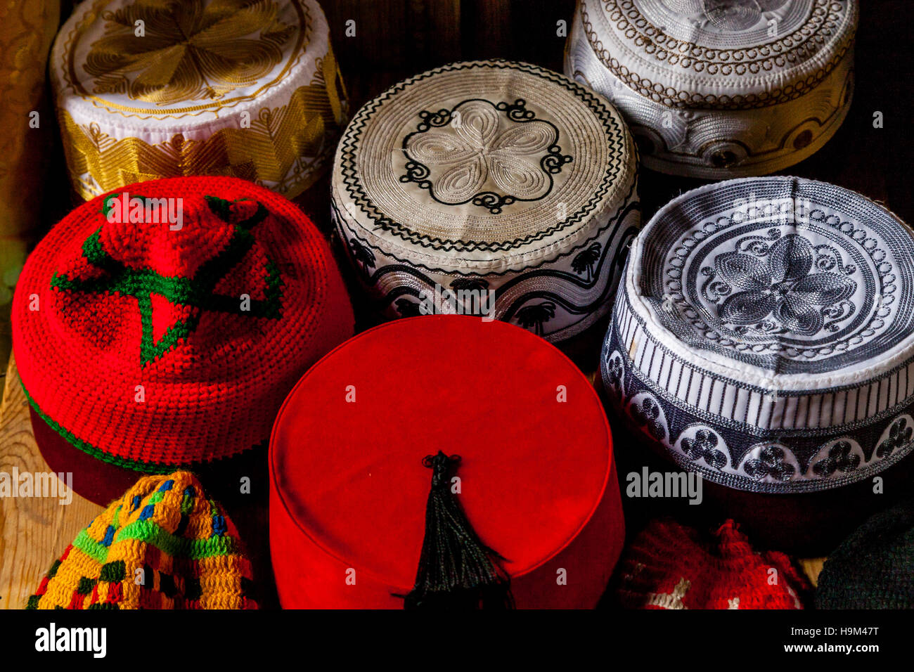 Traditional  Fez  Hats For Sale In The Medina 0bf1c9881af