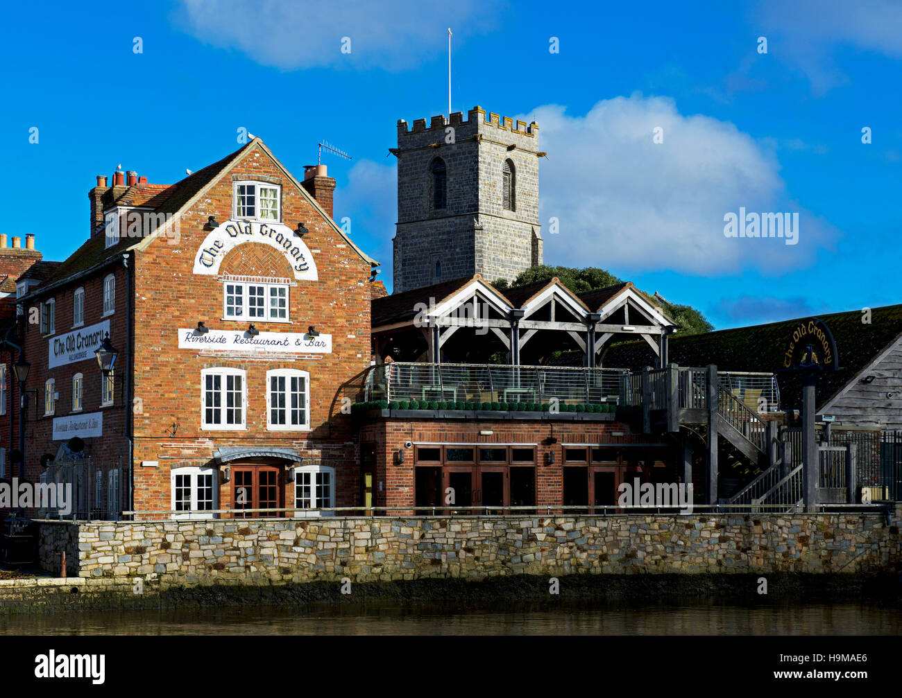 The Old Granary restaurant and bar, Wareham, Dorset, England UK - Stock Image