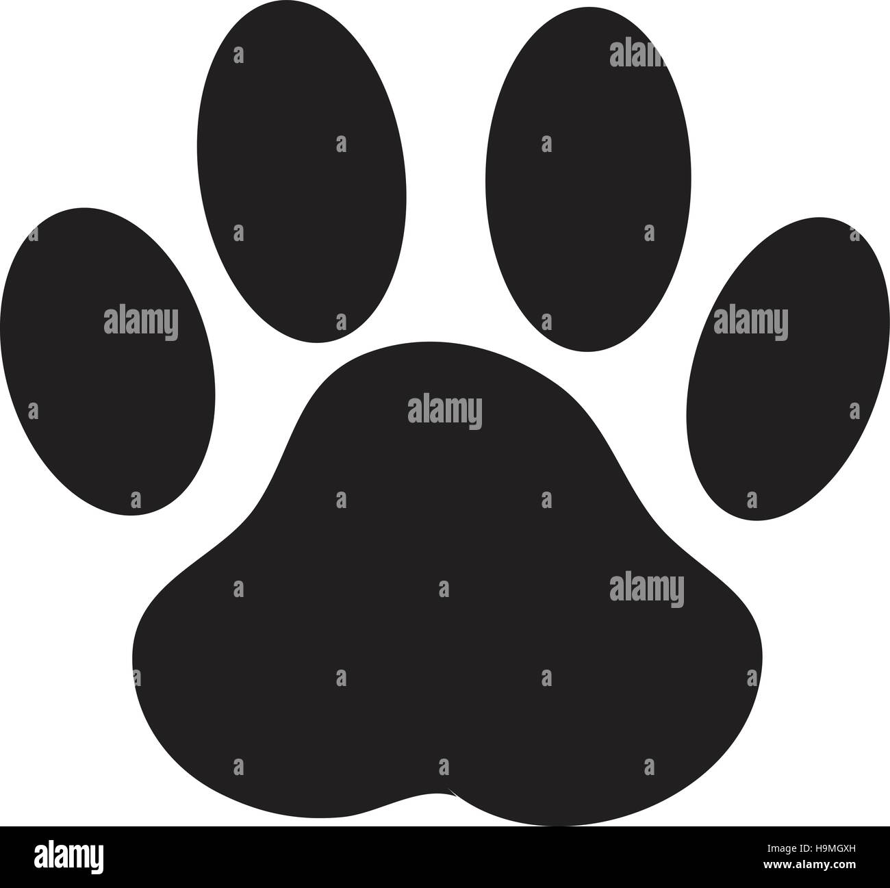 paw print dog paw vector stock vector art illustration vector rh alamy com Dog Paw Print Stencil dog paw print vector png