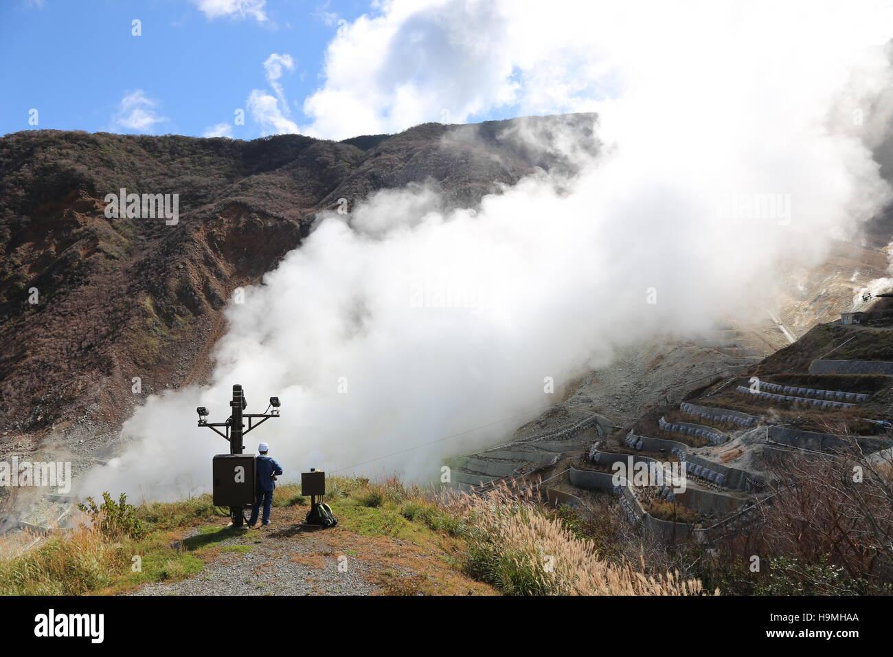 Volcanic in Hakone Tokyo Japan - Stock Image