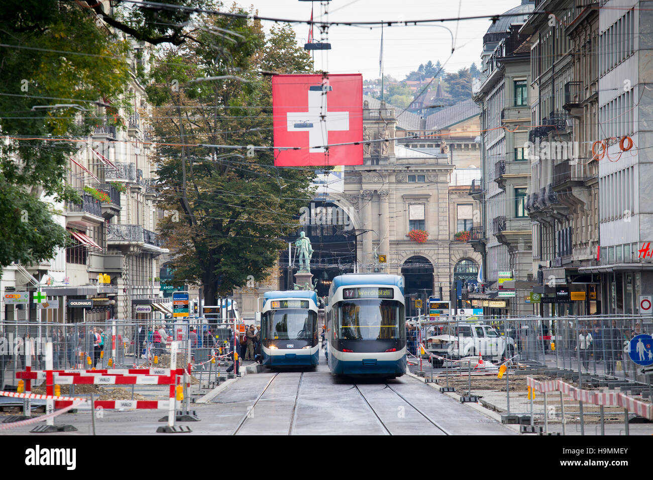 Zurich Public Transport (VBZ), Zurich, Switzerland - Stock Image