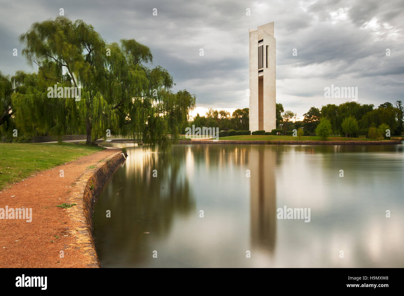 The National Carillion in Australia's capital Canberra. - Stock Image