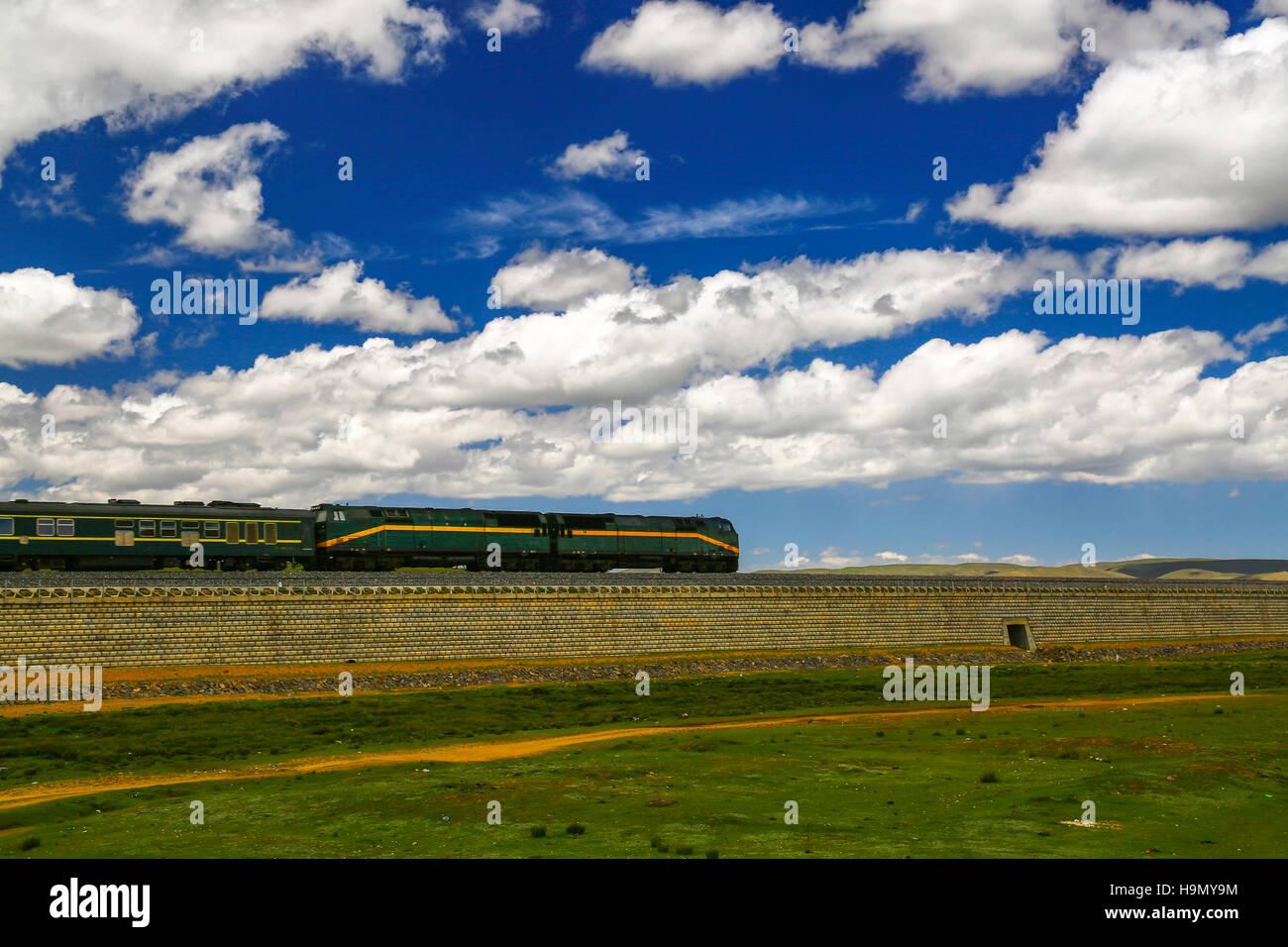 Northern Tibet Grassland - Stock Image