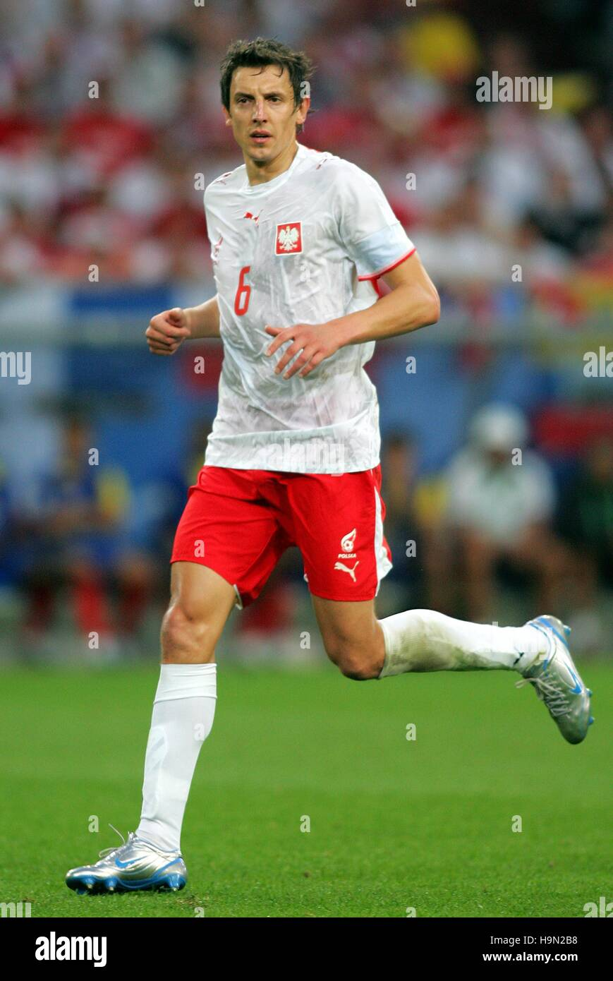 JACEK BAK POLAND & AL-RAYYAN WORLD CUP GELSENKIRCHEN GERMANY 09 June 2006 Stock Photo