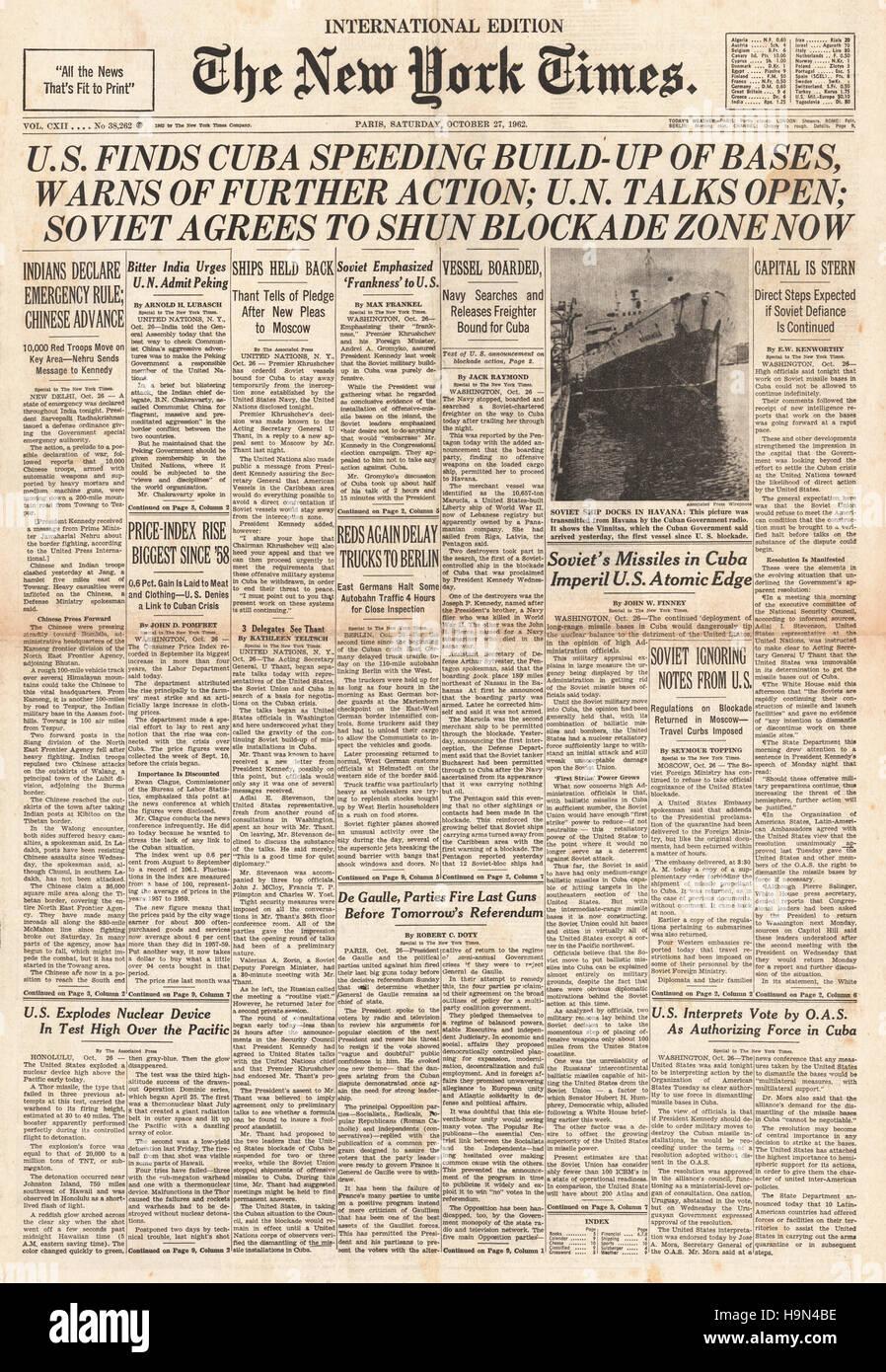 cuban missile crisis paper