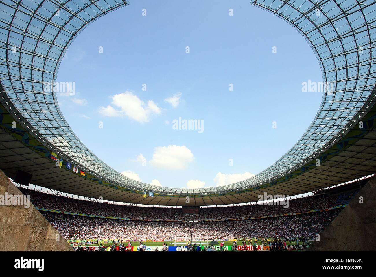 OLYMPIASTADION BERLIN ECUADOR V GERMANY WORLD CUP BERLIN GERMANY 20 June 2006 - Stock Image