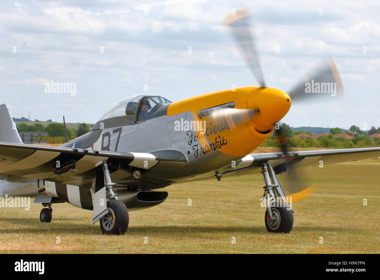 North-American Mustang P51D Ferocious Frankie G-BTCD at Duxford Air Show, England, UK Stock Photo